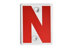 NEW DRIVER SIGN WITH SUCTION CUP